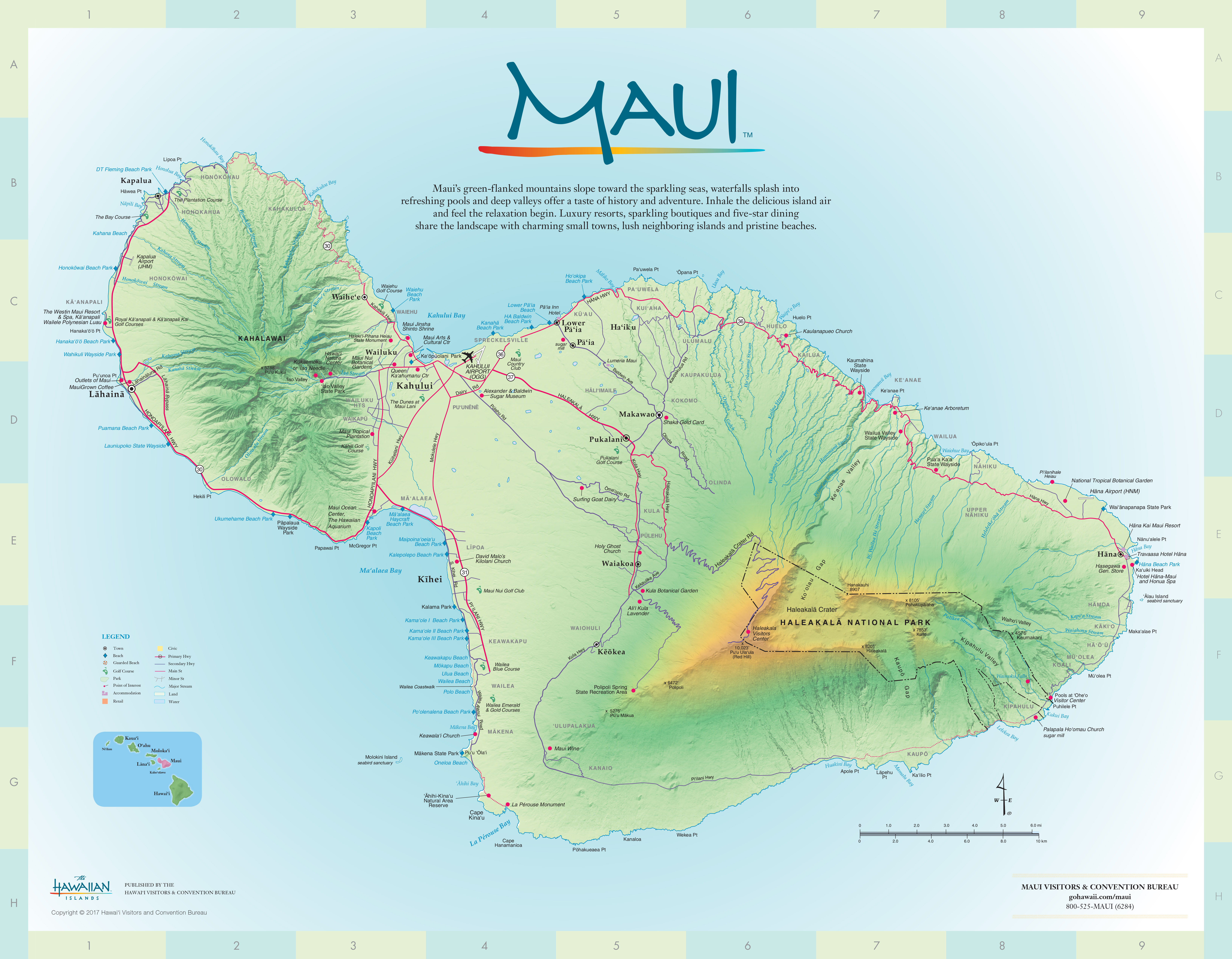 photograph about Maui Map Printable referred to as Maui Maps Move Hawaii
