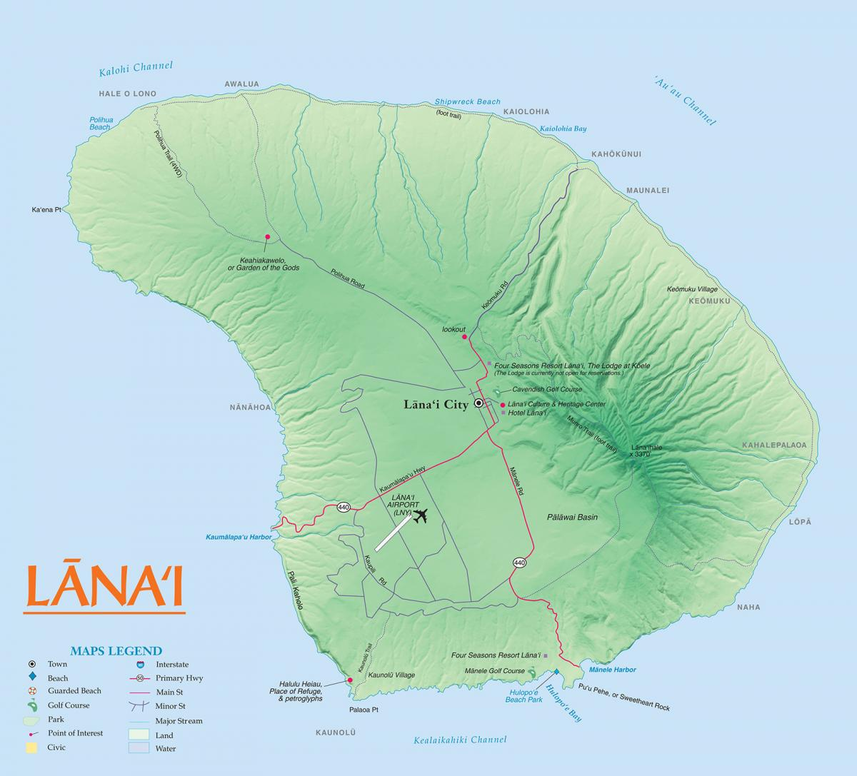 Lanai maps go hawaii view an image file of the map of lanai thecheapjerseys Choice Image