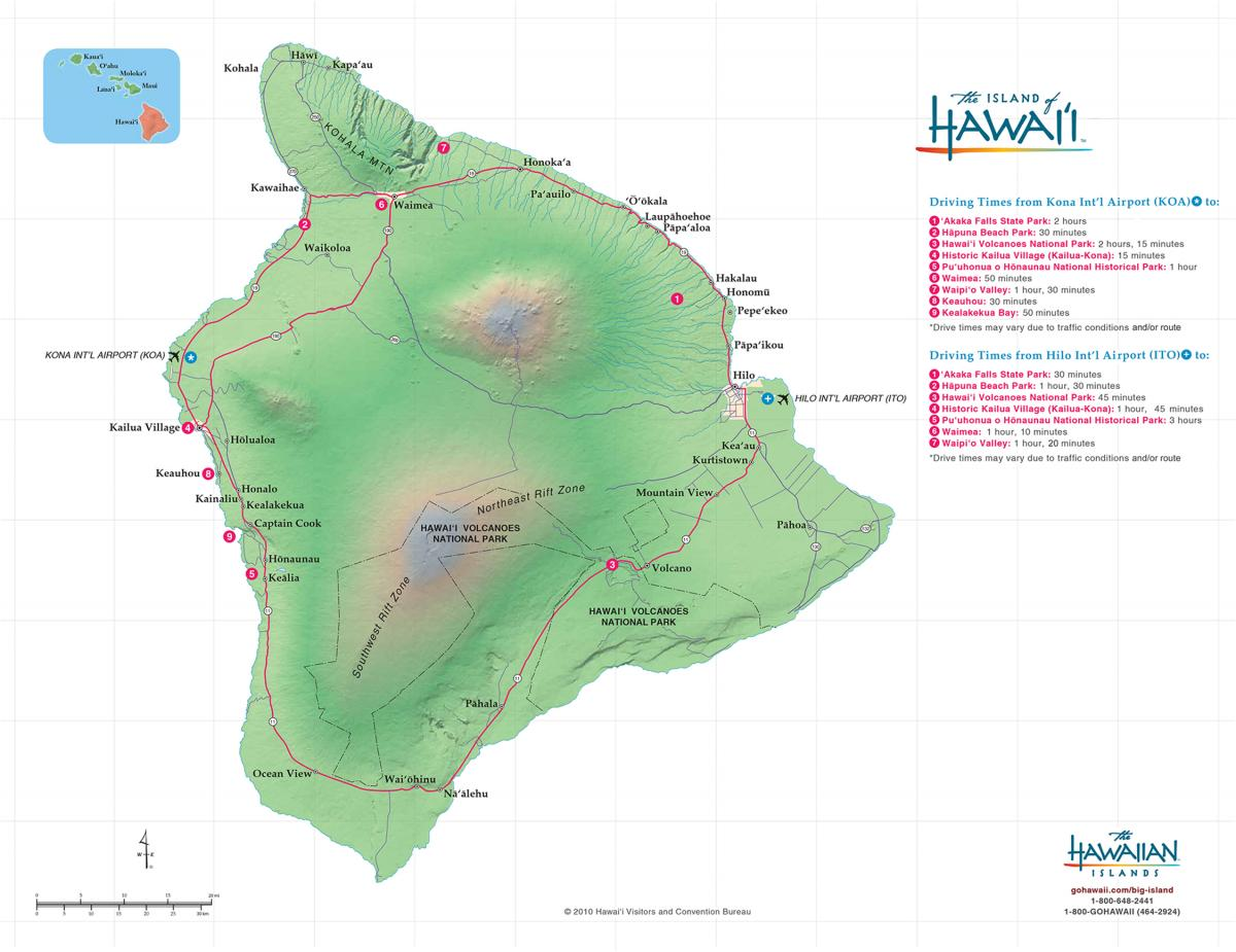 Hawaii Big Island Maps  Geography  Go Hawaii