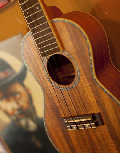 A handcrafted ukulele