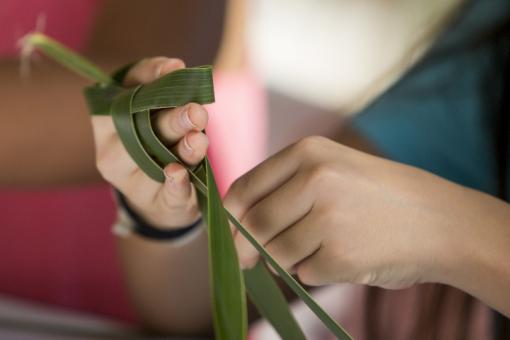 Coconut Frond Weaving at The Shops at Wailea