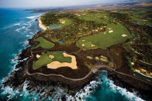 Signature holes #17 & 18 at the Mitsubishi Electric Championship at Hualalai