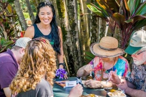 Nosh on Hawaii's iconic food, including kalua pork and poi by a 6 generation family farm