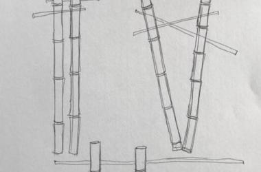 preliminary sketches of base structures in Lili`uokalani Gardens for floral design installations