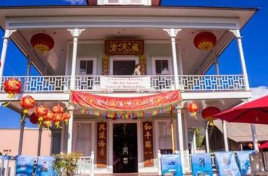 Sun Yat-sen Festival displays at Wo Hing Museum in Lahaina