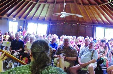 Happy Full House of Aloha Spirited Audience Members