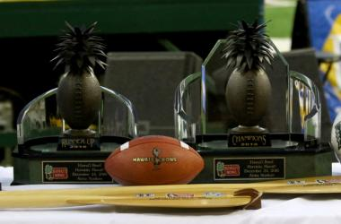 The 2016 Hawai'i Bowl Championship and Runner Up Trophies