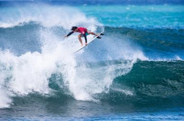 Athletes take to the air during the Hawaiian Pro at Haleiwa, which is the most progressive wave of the three Vans Triple Crown venues.