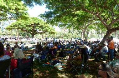 Happy Crowd At The Hawaiian Slack Key Guitar Festival