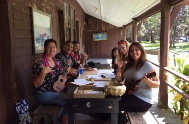 Wes Awana's 'ukulele workshop