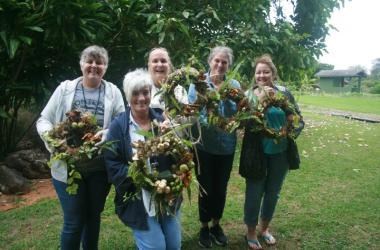Living Wreath Making with Native Hawaiian Plants