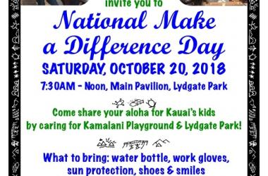 Make A Difference Day @ Lydgate State Park