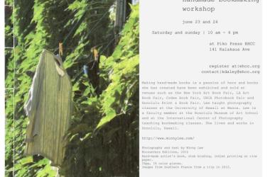 Making a Hand-Made Book Workshop with Minny Lee