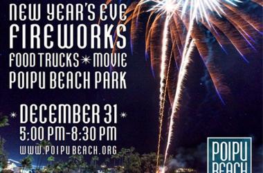 New Year's Eve Fireworks Celebration at Poipu Beach Park