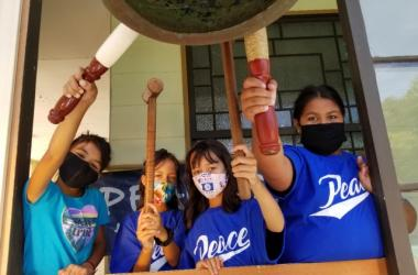 Winter and Danielle Smith-Castro, twins from Honoka'a, Hawaii Island, are accompanied by sisters Katalina and Laila Lavaca of Waimea.