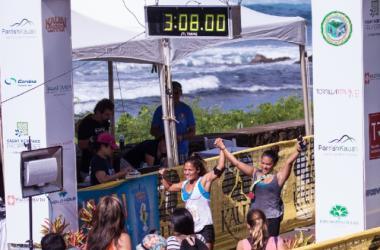 Oceanfront finish line