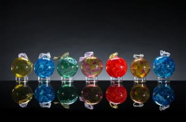 Hand blown glass ornaments by Mike & Misato Mortara