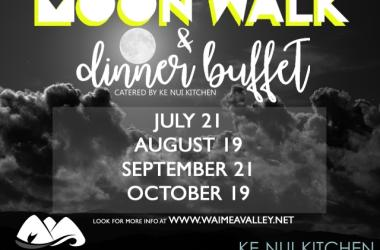 Waimea Valley Moon Walk and Dinner Buffet