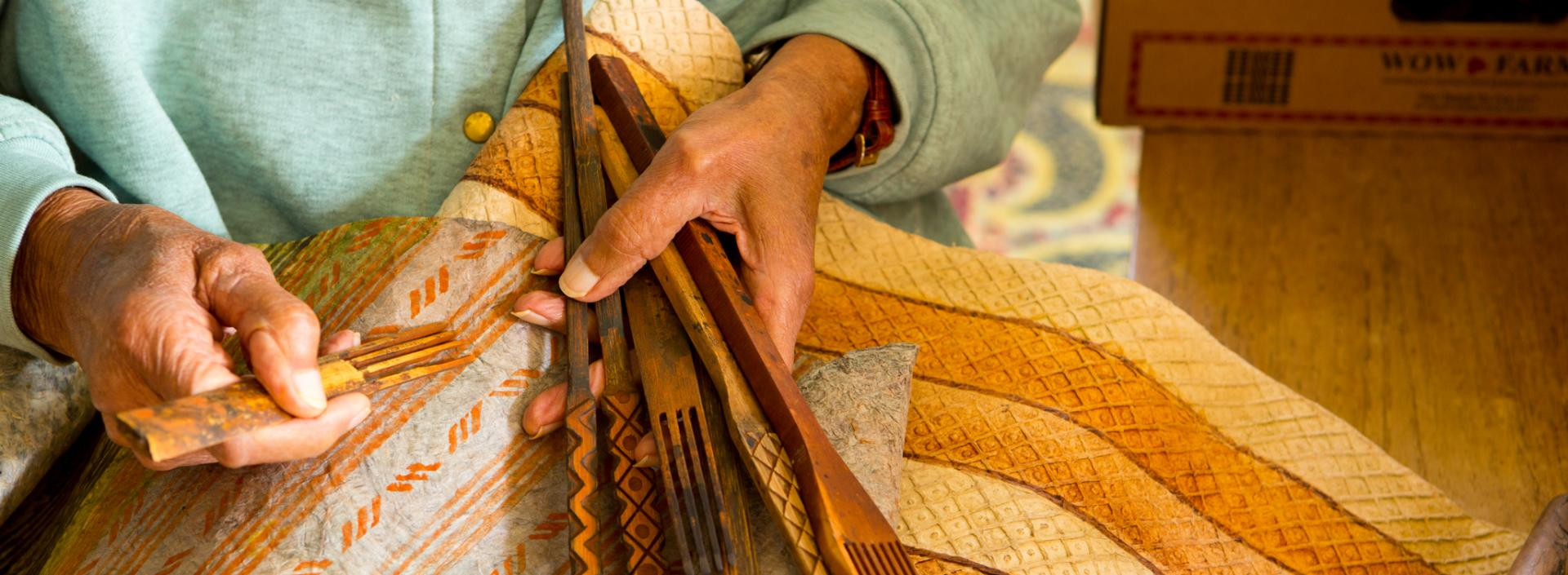 Big Island Arts and Culture - artisan working