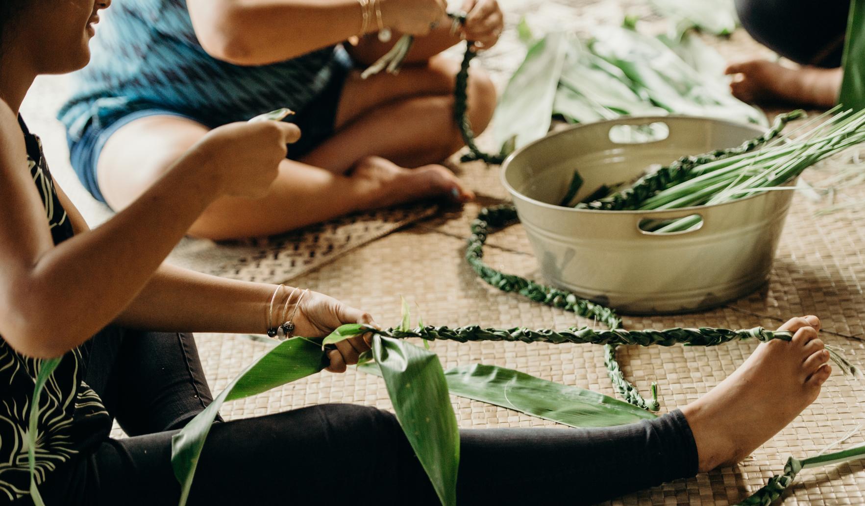 Maui artisans working