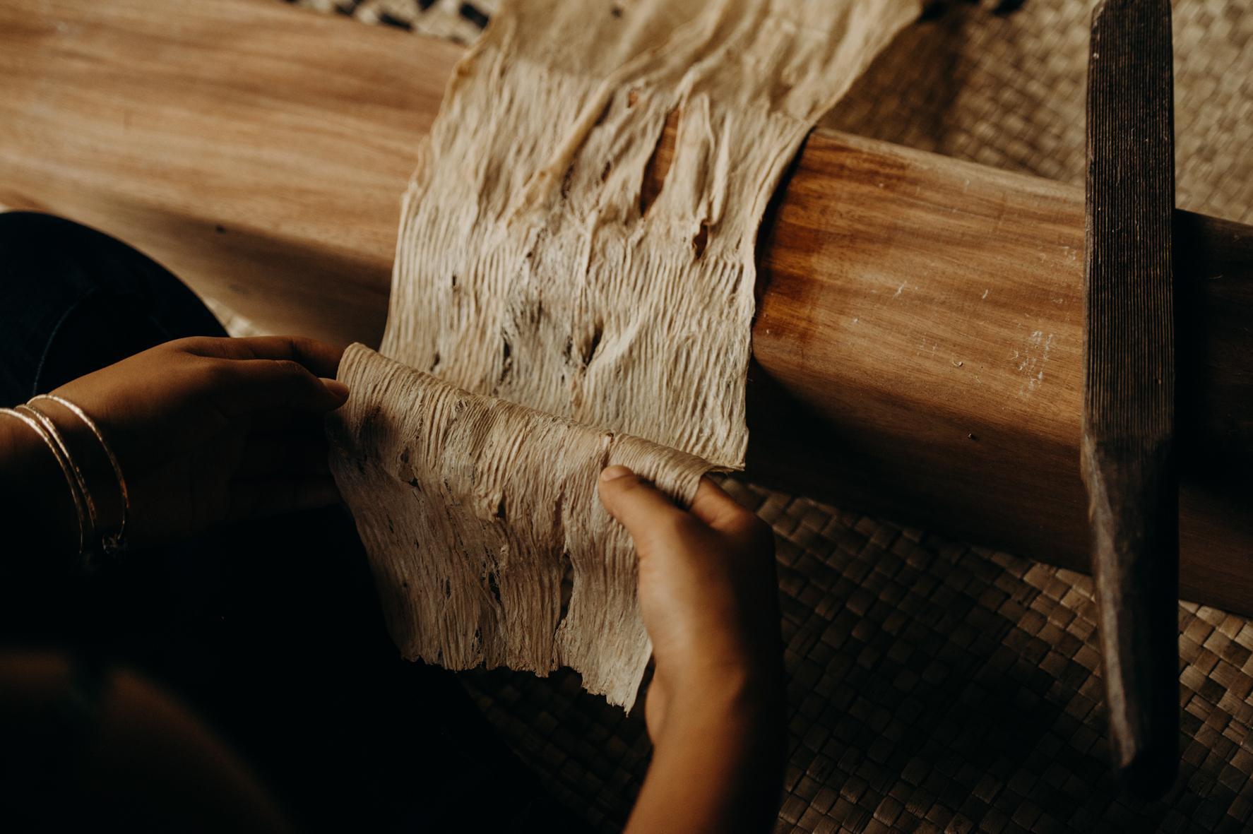 Maui artisan working