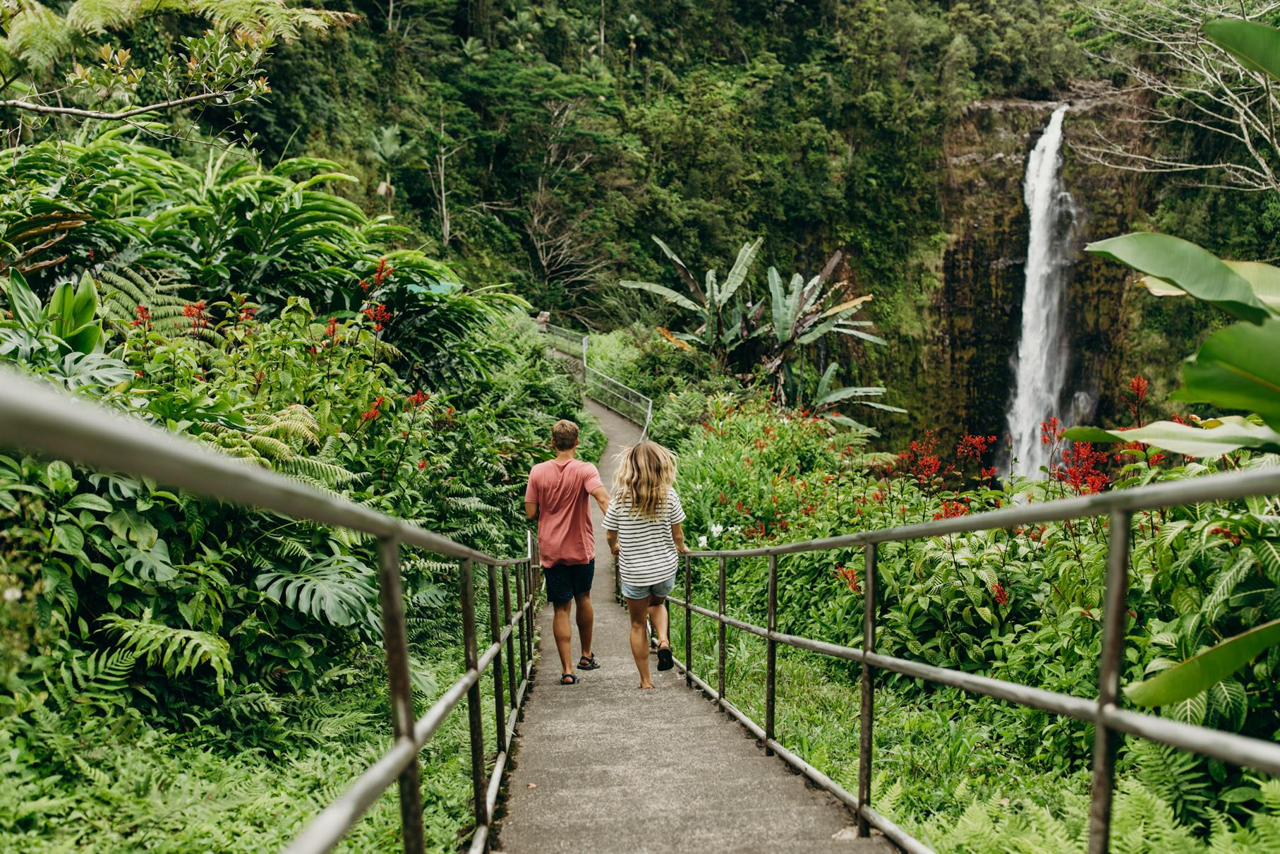National parks and trails on the Island of Hawaii