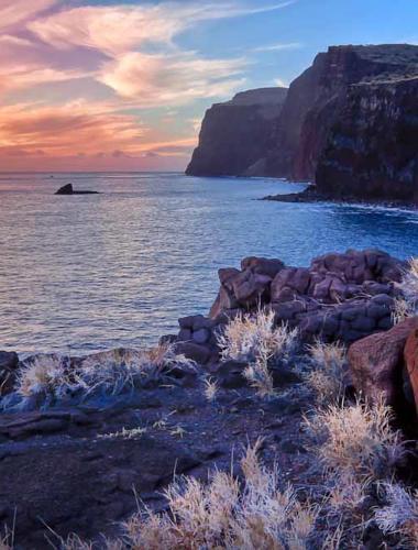 Sunset on the beach off the Hawaiian island of Lanai