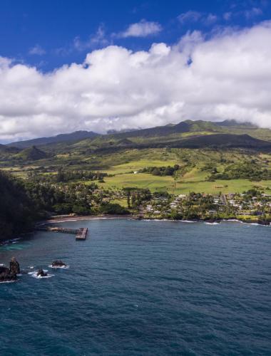 The famous Hana Coast on the Hawaiian island of Maui