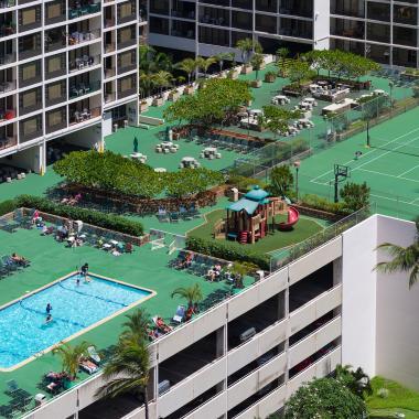 Waikiki's largest recreation deck