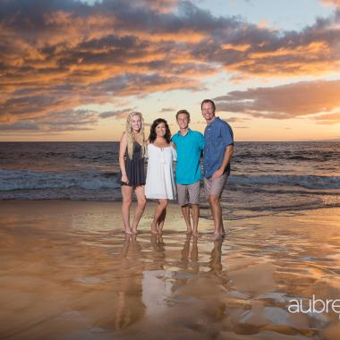 Maui Family Photography in Wailea at Sunset