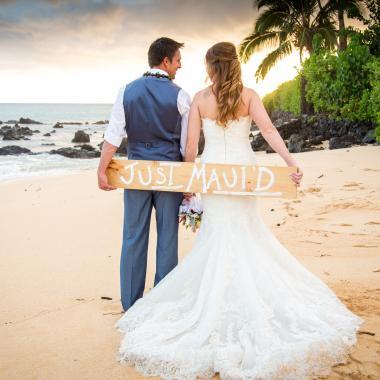 Beautiful Maui Sunset Weddings
