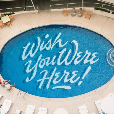 Wish you were here - Outdoor pool at The Surfjack Hotel & Swim Club