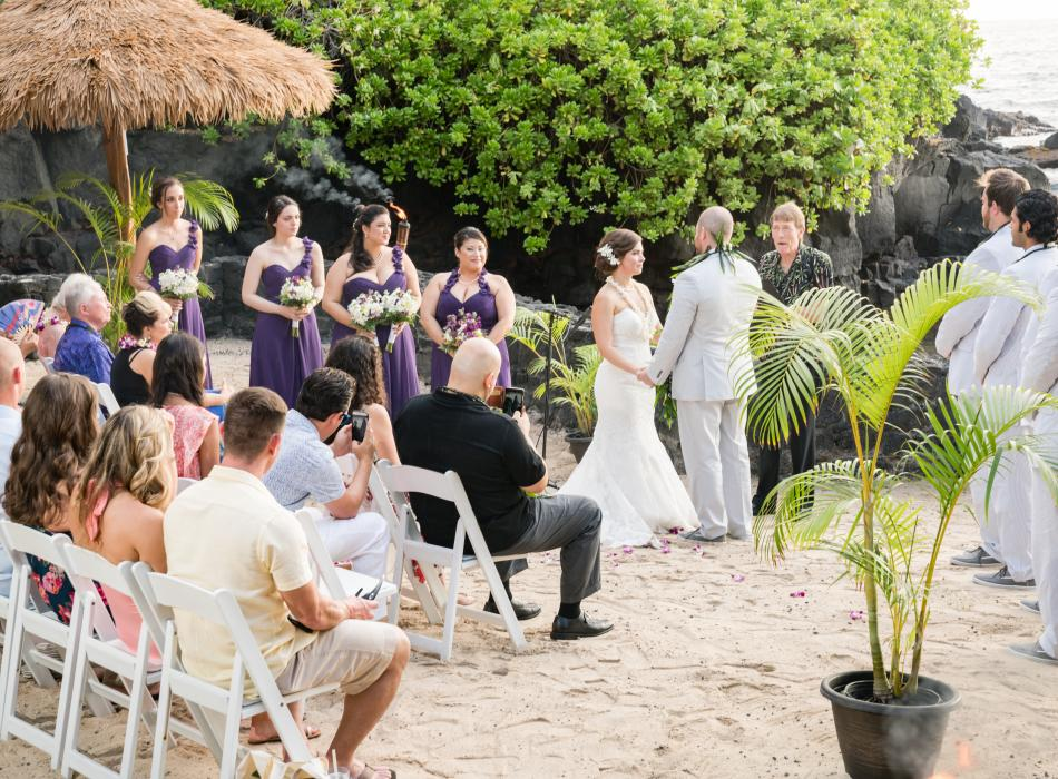 private beach wedding