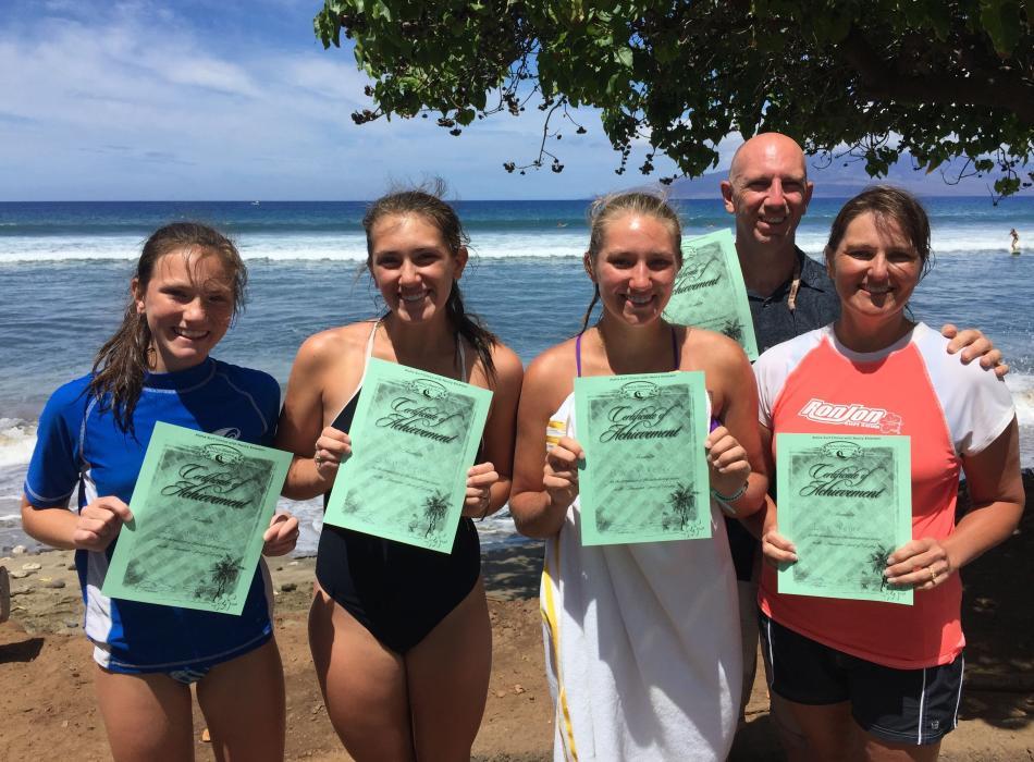 Family Surfs Together