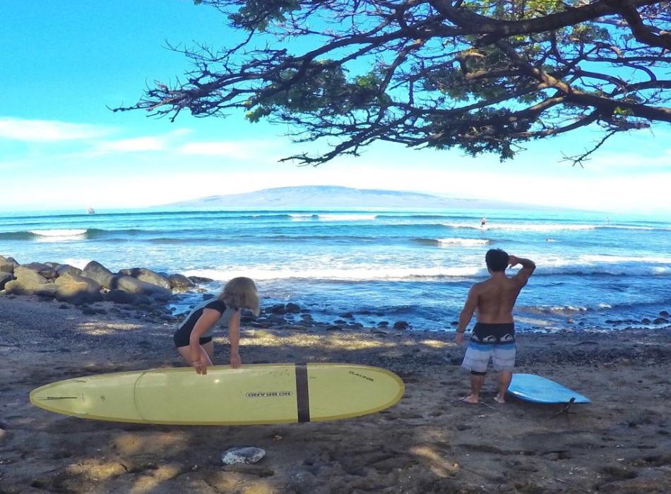 Nancy Emerson Surf clinic on Westside