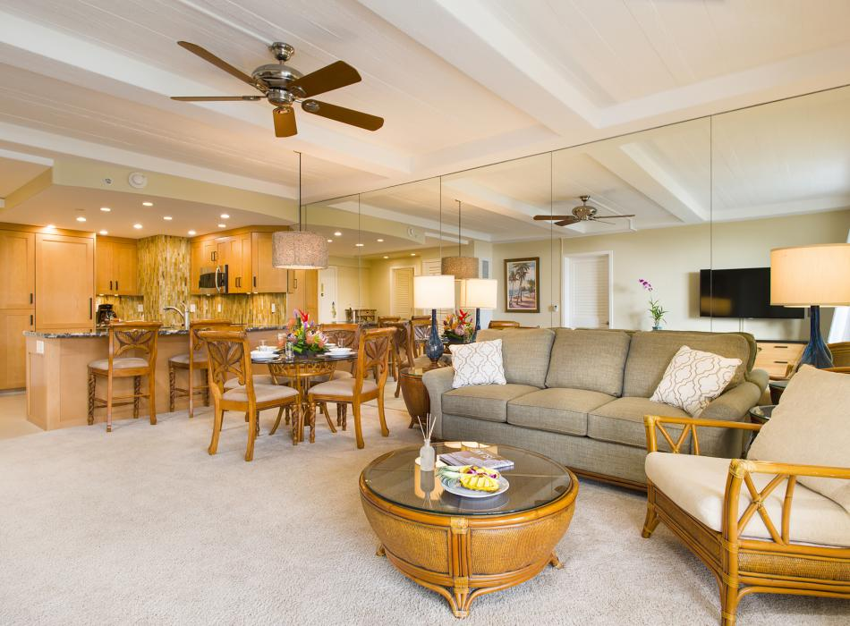 Spacious living areas and full kitchens