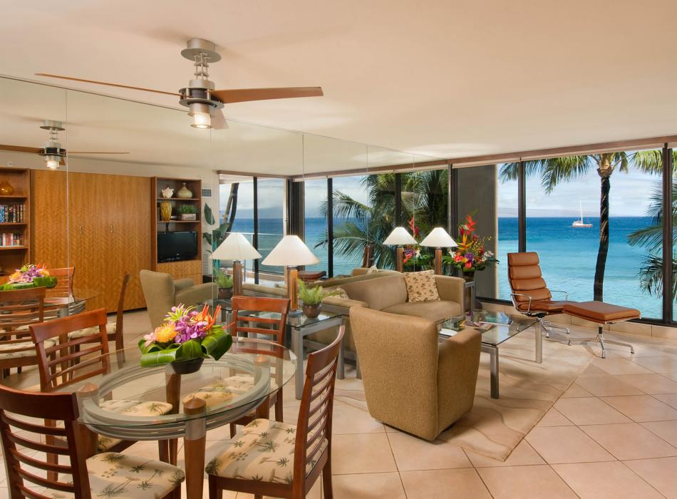 Spacious accommodations and oceanfront views of the Pacific