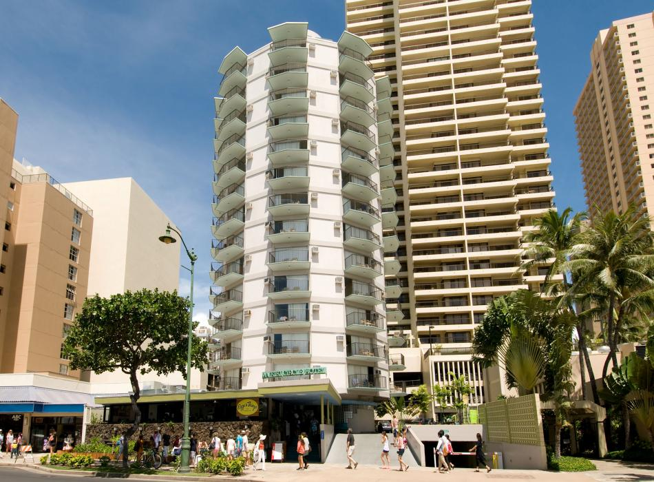 Just across from the beach in the heart of Waikiki