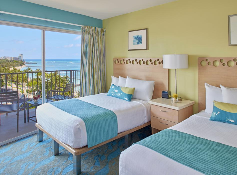 Stay in central Waikiki with ocean views
