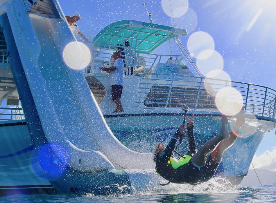 Take a ride down our new 20-foot waterslide!