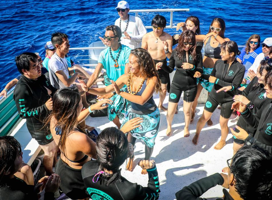 Learn how to hula from our crew!