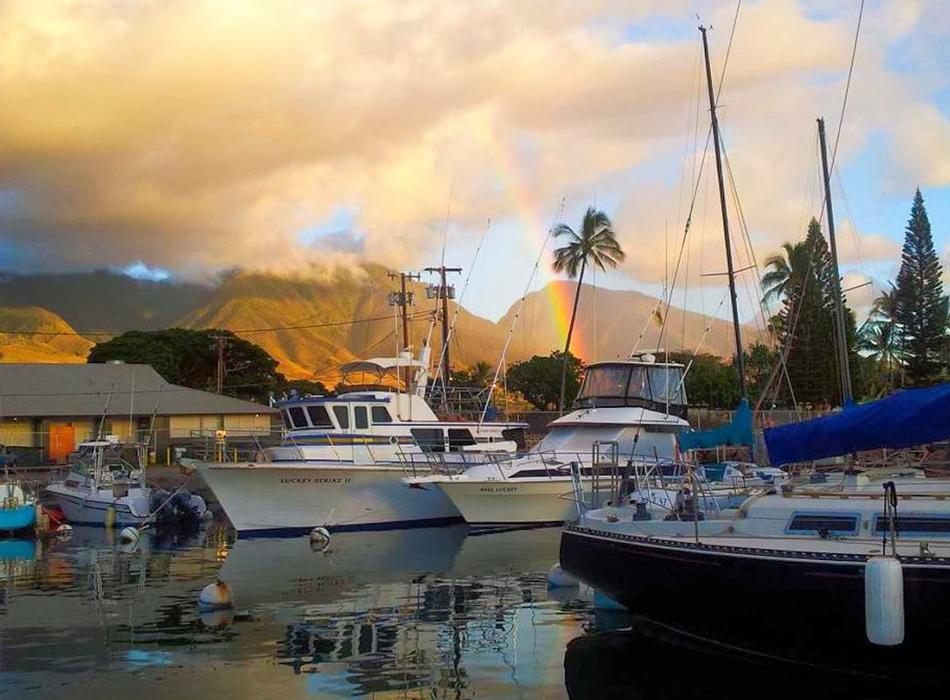Fishing charters from Lahaina harbor