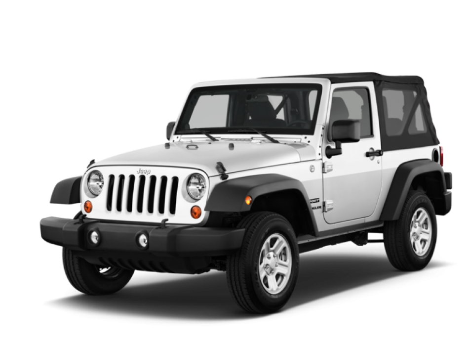 Jeep Wrangler 2-Door - We have 2-door Jeep Wranglers with a fold down soft tops at discount rates and perks. Seats 4.