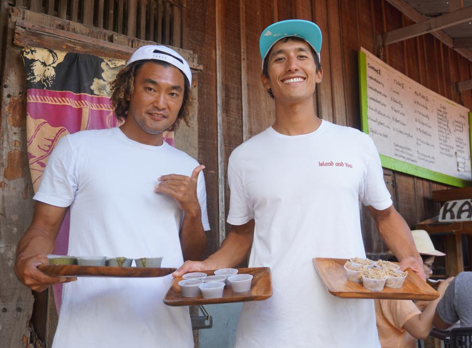 Throughout the tour, our guides will serve you samples and full meals of traditional Hawaiian food.