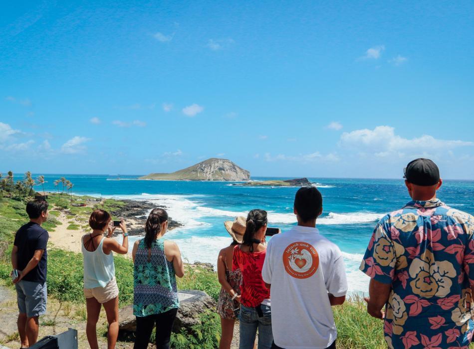 Enjoying the view at Makapu'u Lookout