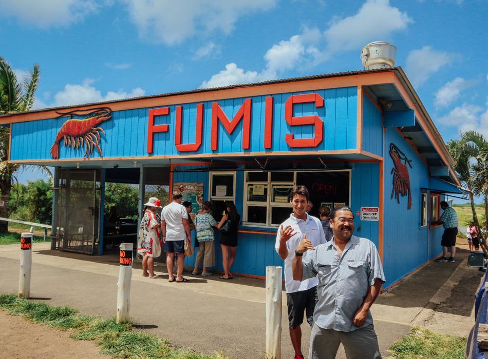 Garlic Shrimp Lunch at Fumi's