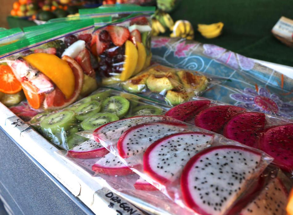 Fresh Tropical Fruit Stand
