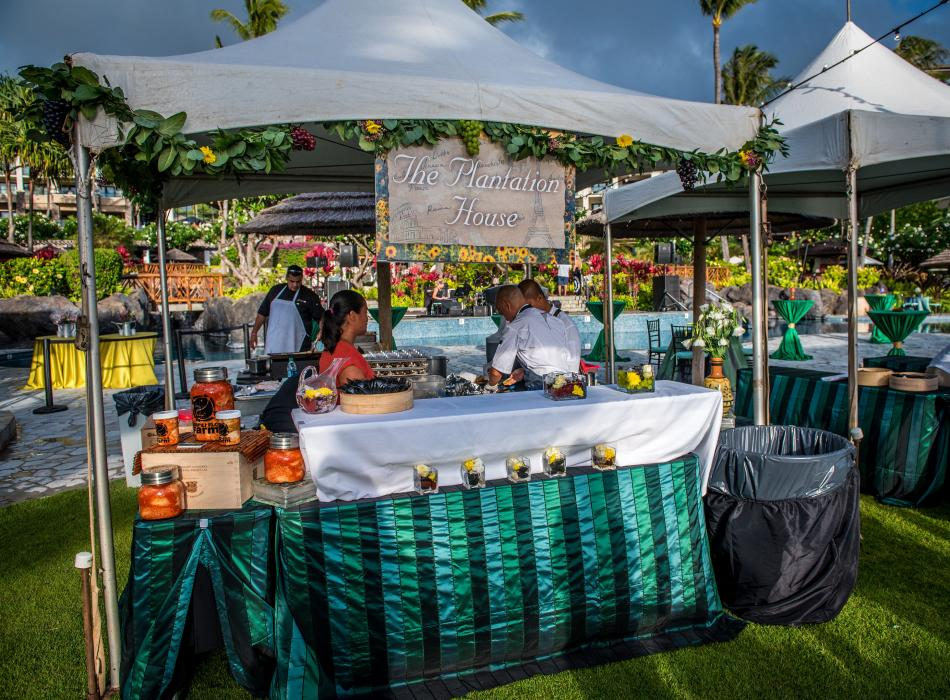 Grand Tasting - Kapalua Resort Restaurants feature their specialty creations