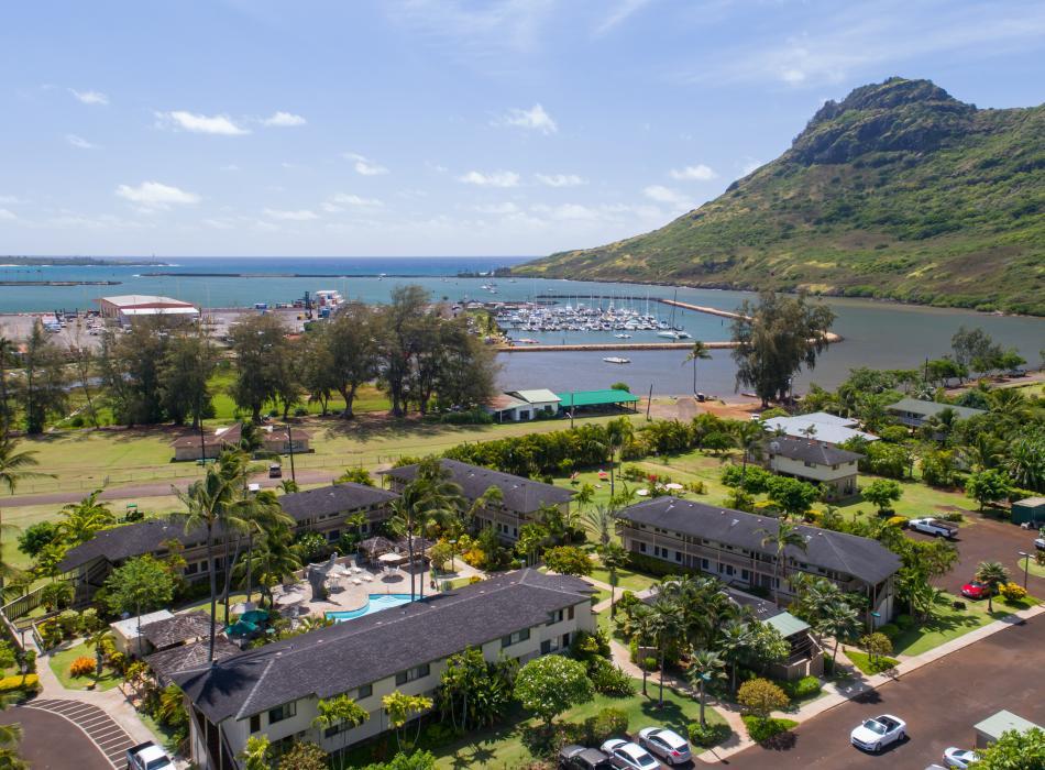 Aerial of the Kauai Inn