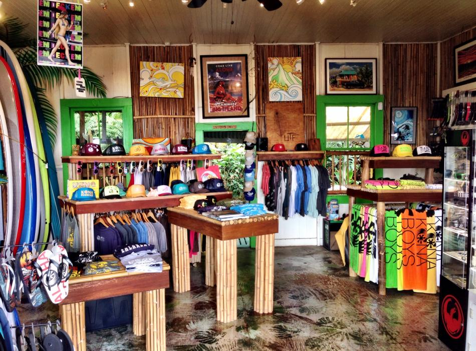 Island style shop - a look at the inside of the main room of our shop.
